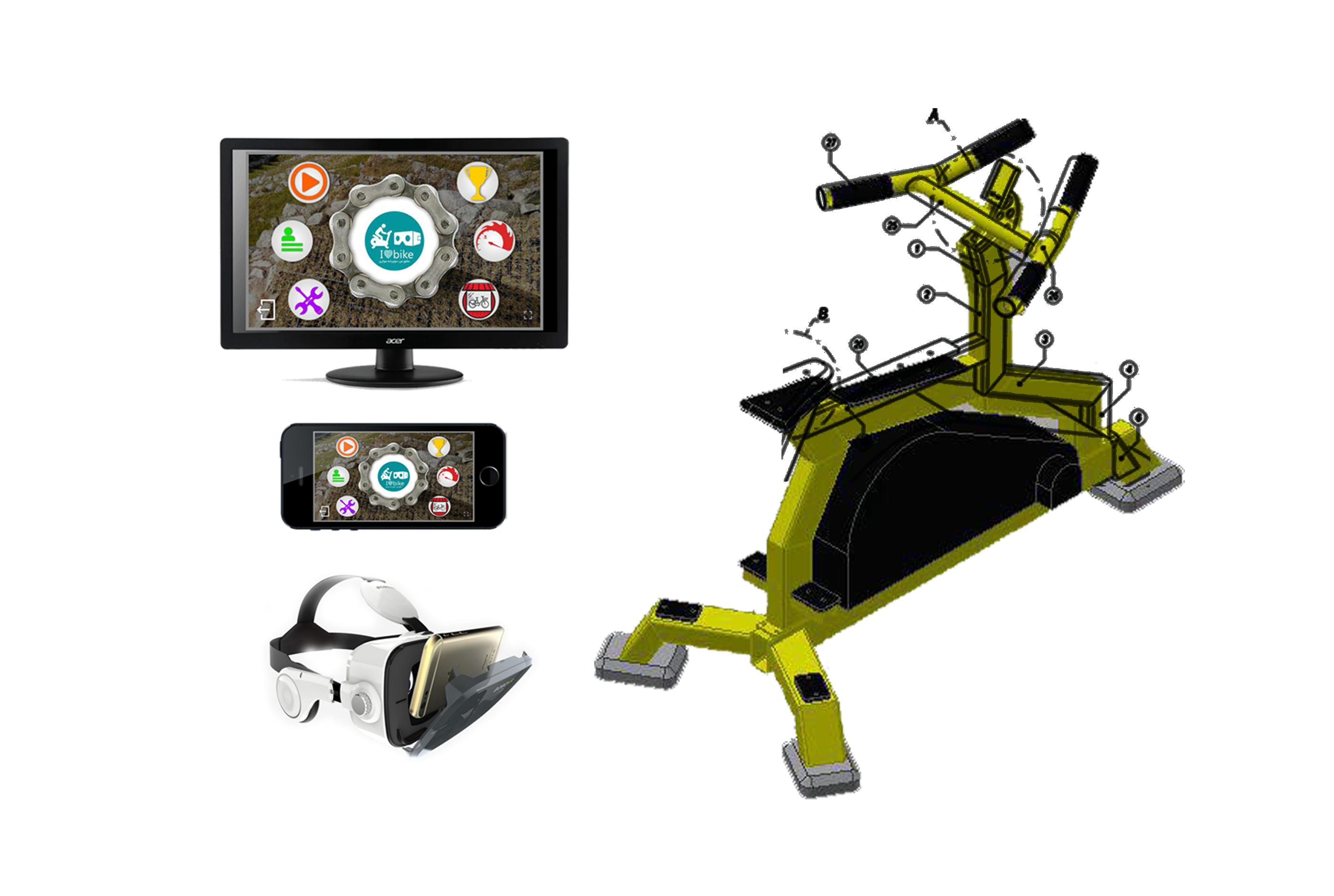 دوچرخه سلامت - آموزش میکروکنترلر - برنامه نویسی واقعیت مجازی -