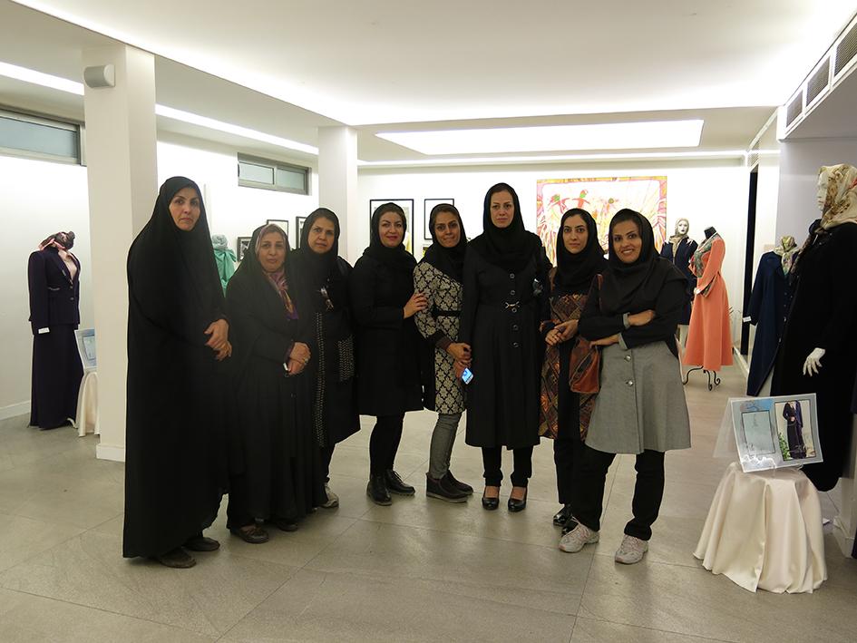 بازدید همکاران انجمن تخصصی طراحی دوخت اصفهان